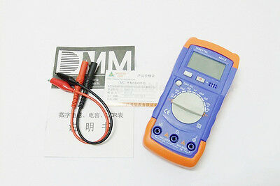 Digital LCD Capacitance Capacitor Meter Tester Multimeter 20mF To 200pF A6013L