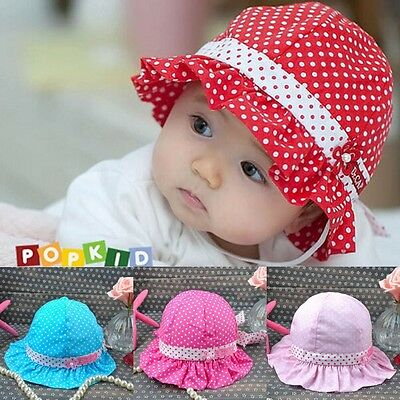Cute Baby Girl Bowknot Cap Hats Summer Beach 3-24 Month Children Soft Beauty