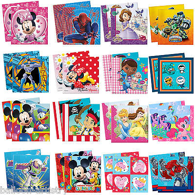 Disney Children's Cartoon Birthday Party 33cm Paper Napkins Serviettes
