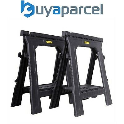 Stanley Folding Sawhorse Twin Pack 1-70-713 Includes Shelf STST1-70713 STA170713