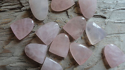 "Rose Quartz Tongue (pkg 12) stone piece for wire wrapping 1/2"" x 3/4"""
