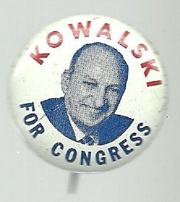 Kowalski For Congress Connecticut Political Campaign Pin