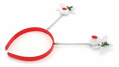 Zest Shiny Christmas Googly Eyes Rudolph Hair Slides with Bow Red /& Silver