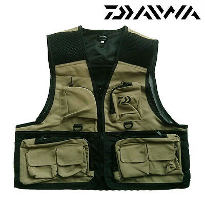 Daiwa Waistcoat Wading Fishing Vest Jacket  M L Xl Or Xxl Choose Size