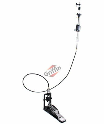 Remote Hi Hat Cymbal Stand – Griffin Auxiliary Cable Foot Pedal Drum High HiHat