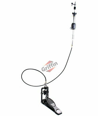 Remote Hi-Hat Cymbal Stand Pedal Heavy-Duty HiHat Drum Hardware by Griffin