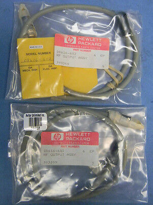 (2) NEW HP 08616-602 RF Output Assembly Cables for HP 8616A
