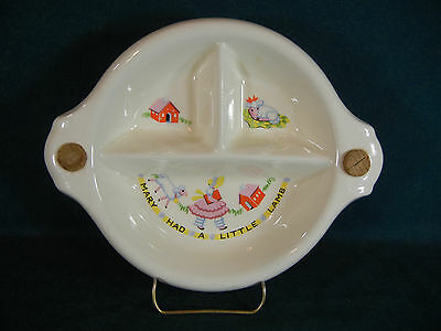 Mary Had a Little Lamb Sectional Infant Feeder Bowl with Hot Water Inlets