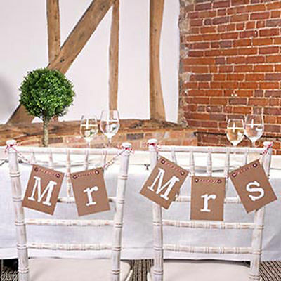 Just My Type - Mr & Mrs Chair Bunting - Retro Shabby Chic Styling - X671260