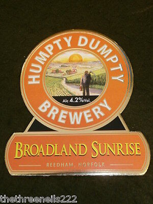 Beer Pump Clip - Humpty Dumpty Broadland Sunrise