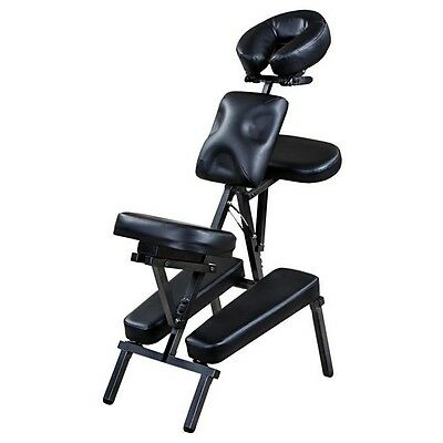 """""""Rhea"""" Black Portable Massage Chair with Carrying Bag"""