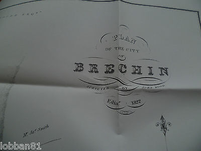 Old O S Map Plan of the City of Brechin Scotland 1822 Brand New