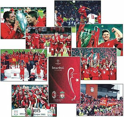 Liverpool European Cup Champions League Final 2005 POSTCARD Set