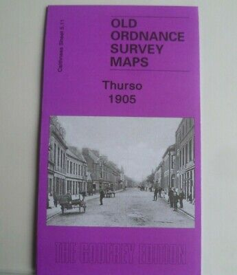 Old Ordnance Survey Maps Thurso Caithness Scotland 1905 Godfrey Edition New