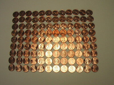 BU. SET OF LINCOLN 1959-2017  CENTS 135  coins MANY ARE CUT FROM MINTSETS
