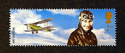 Amy Johnson and Bi-plane illustrated on 2003 stamp - Unmounted Mint