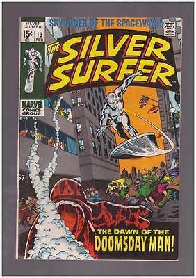 Silver Surfer # 13  Dawn of the Doomsday Man ! grade 7.5 scarce hot book !!