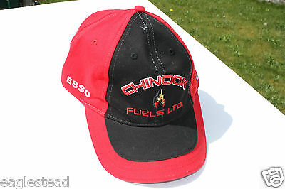 Ball Cap Hat - Chinook Fuels - Esso Mobil 1 - Gas Oil Sands Fort McMurray (H965)