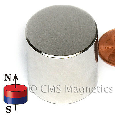 """Neodymium Magnet N42 1x1"""" Strong NdFeB Rare Earth Disk Magnets 10 Count"""