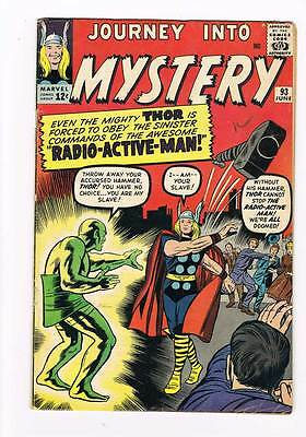 Journey into Mystery # 93  The Radio-Active Man ! grade 5.0 scarce hot book !!