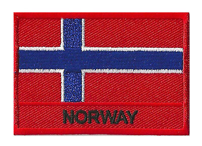 Ecusson coudre patche drapeau patch NORWAY Norvège 70 x 45 mm brodé