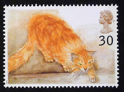 Ginger Cat Illustrated on 1995 stamp - Unmounted Mint
