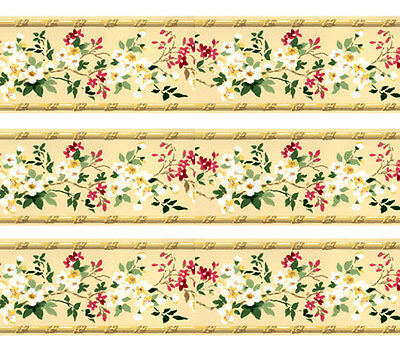 Dolls House Wallpaper Border 77 ins long  Quality Paper 1/12th 1/24th B19