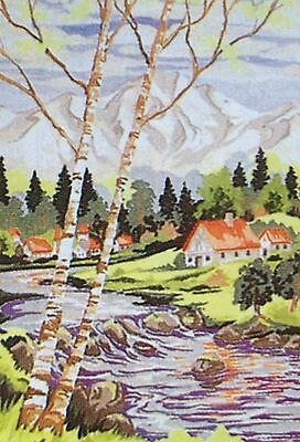 Webster Craft Punch Needle Embroidery Rocky Mountain River Large A3 kit