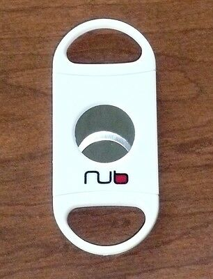 NUB CIGAR CUTTER White Double Blade >NEW<