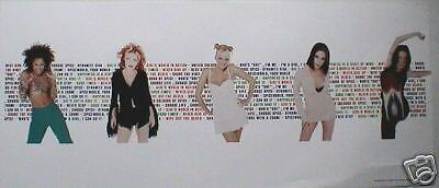 "SPICE GIRLS ""SPICE WORLD"" U.S. PROMO BANNER - Girls Posing Over Song Titles"