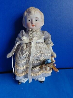 """Vintage 6"""" All Bisque Doll- Nippon"""