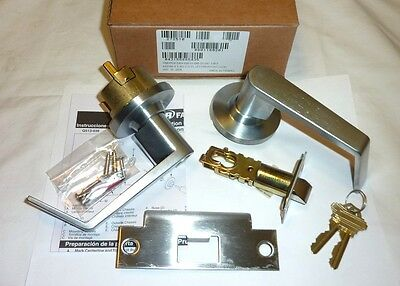 Falcon Y581P6 DAN 626 Dane Storeroom Deadlocking Lockset & Keys SATIN CHROME