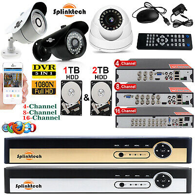 1TB HDD 4CH 8CH 16CH 1080P CCTV DVR Outdoor Camera Home Security CCTV System Kit