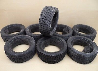 8 x 'Rally' Tread Tyres w/Inserts 1/10 Trickbits TB4260 On Road (two full sets)