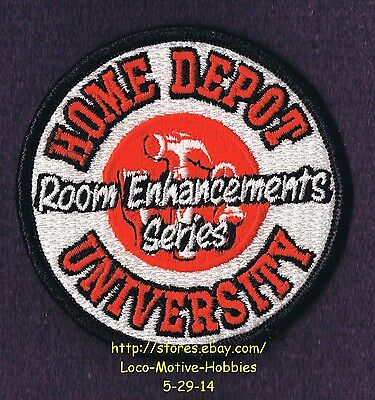 LMH PATCH Badge  HOME DEPOT University  ROOM ENHANCEMENT SERIES  Home Education