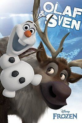 """Frozen Olaf and Sven - Maxi Poster - 24"""" x 36"""" - Disney"""