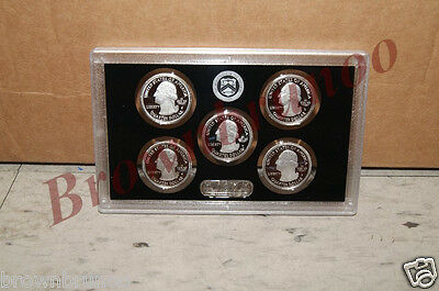 2014 S US Mint SILVER PROOF America the Beautiful Park Quarter ATB Cameo 5 Coins