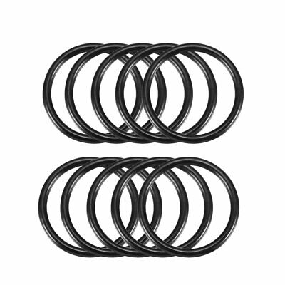 10Pcs 46mm x 38mm x 4mm Mechanical Rubber O Ring Oil Seal Gaskets Black