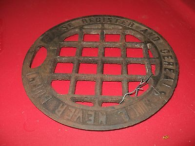 """Antique Stove Register Plate """"Raise Register and Cereals Will Never Burn"""""""