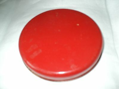 """Spare LID - Small Red Tin 4 1/4"""""""