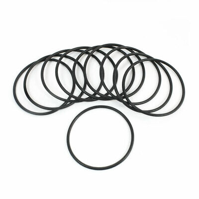48mm x 44mm x 2mm Rubber Oil Seal O Ring Gasket Washer Black 10 Pcs