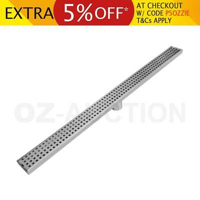 900mm Square Stainless Steel Bathroom Shower Grate Drain Floor Waste Linear Home