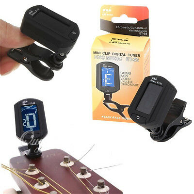 LCD Automatic Mini Clip On Digital Electronic Tuner Tuning For Acoustic Guitar