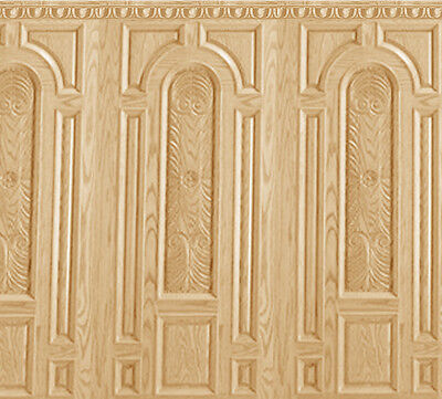 Dolls House Wallpaper Wainscot Matte Card 1/12th or 1/24th WP08