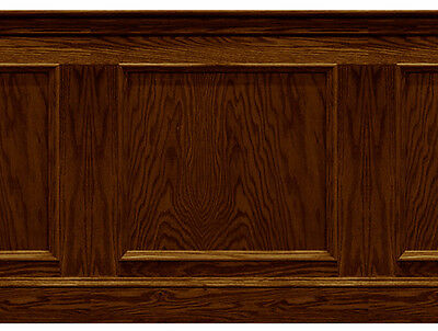 Dolls House Wallpaper Wainscot   panel 1/12th or 1/24th Dark Oak