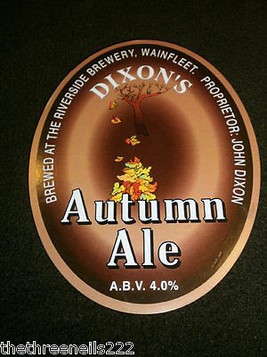 Beer Pump Clip - Dixon's Autumn Ale