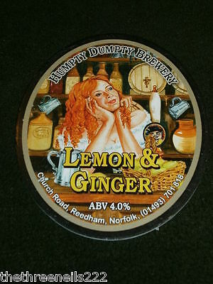 Beer Pump Clip - Humpty Dumpty Lemon & Ginger
