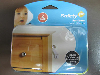 Safety 1st  Furniture Wall Straps #11014 Package of 2 NEW