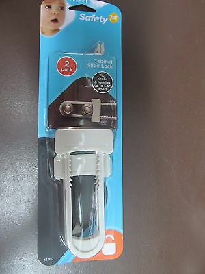 Safety 1st Cabinet Slide Lock #11002  NEW  Package of 2