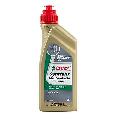1 Litre Castrol Syntrans Multivehicle 75W90 Fully Synthetic Gear Oil - Vauxhall